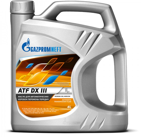 Gazpromneft ATF DX III кан.4л (3 580 г) ЯНОС ГПн